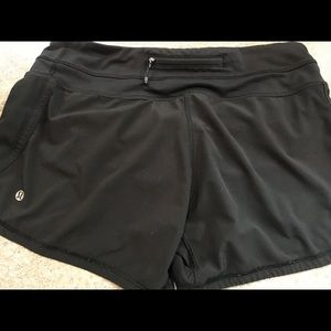 Black lulu lemon shorts